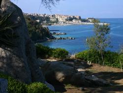 Parghelia vista panoramica di Tropea